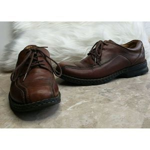 DOCKERS ProStyle Brown Leather Lace Up Shoes 8 M